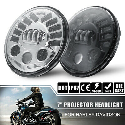 "6.5"" LED Motorcycle Projector Headlight with Bracket 6000K 12V for Cafe Racer AU"