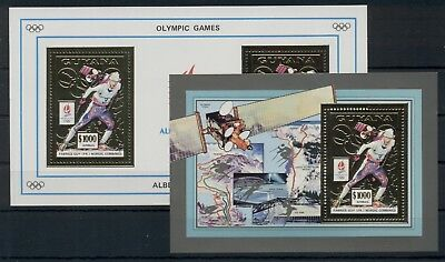 Winter Olympic Games Olympics Alberville 1992 Sports Space Guyana MNH stamp set
