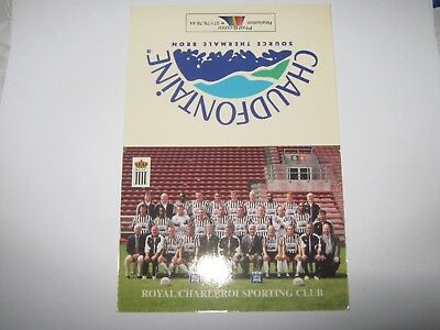 Royal Charleroi Sporting Club Calendrier-2000-2001