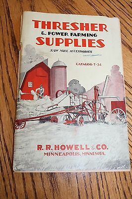 1934 Catalog Thresher Supplies RR Howell Co Minneapolis MN Saw Mill Accessories