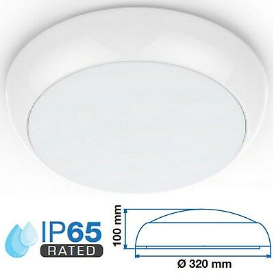 LED External Round IP65 Dome Bulkhead Garden Security Porch Sensor Light Fitting