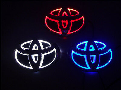 5D LED Car Logo Cold Light Auto Badge Front Emblems Lamp For TOYOTA Highlander