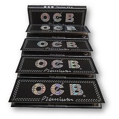 10x Packs OCB Premium Black 1 1/4 ( 50 Leaves / Papers Each Pack ) Rolling Thin