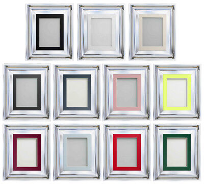Frame Company Theodore Range Shiny Chrome Silver Picture Photo Frames with Mount