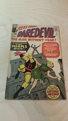 Daredevil #4 VG TO FINE OR 5.0 1st Appearance of the Purple Man