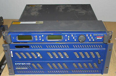Snell and Wilcox 12x SHDUPC1A Upconverters with Frame and control panel