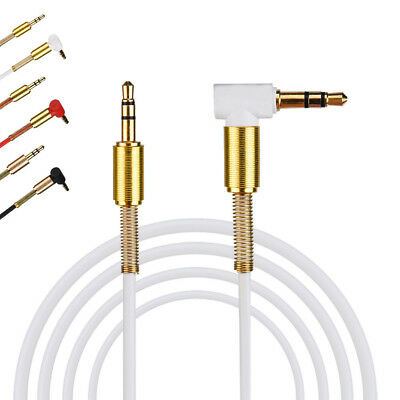 1M 3.5mm Jack Audio Cable Male To Male 90 Degree Right Angle Flat Aux Cable
