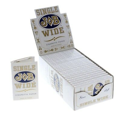 12x Packs JOB Single Wide White ( 24 Leaves / Papers Each Pack ) Rolling Slow
