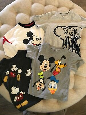Lot Of 4 Toddler Boys T-Shirts Size 3T Disney Carters Mickey Mouse See Descrip