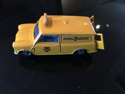 Dinky Toys Yellow AA Patrol Services Mini Van with opening rear doors