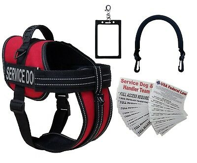 ActiveDogs Service Dog Vest Harness + Free Clip-on Bridge Handle, Free ADA Cards