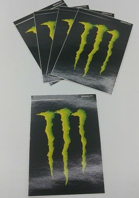 "(5) Monster Energy Drink DECAL STICKER 4"" inch x 3"" inch (Lot of 5) BRAND NEW!!"