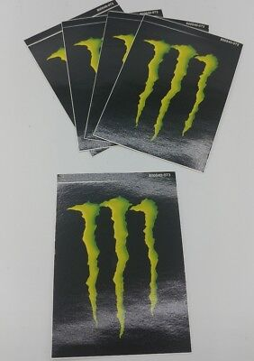 """(5) Monster Energy Drink DECAL STICKER """"4 x 3 inches"""" Lot of 5!  BRAND NEW!!"""