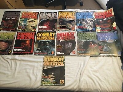 Combat and survival magazines 1987 Vol 1, Issue 1 to 13