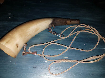 Rare Old French Hunting Horn In A Cow Horn! Beautiful