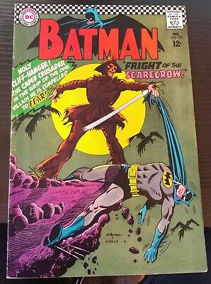 Batman #189 1st silver age appearance of The Scarecrow 6.5 FN+