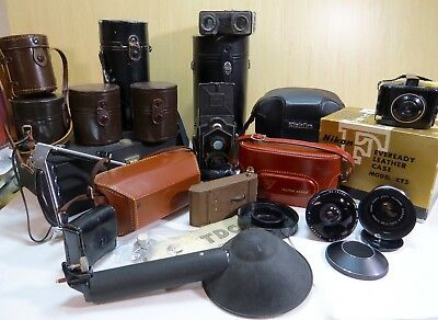 Lot Of  Vintage Cameras And Accessories - 29 Pieces!!!