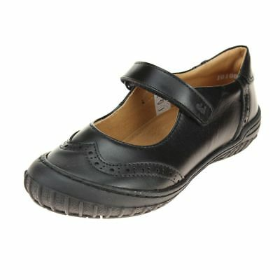 Froddo Girls Black Mary Jane style School Shoe size eu kids hook loop leather