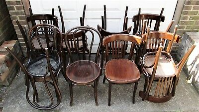 job lot of 14 vintage bentwood cafe chairs two styles