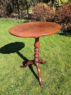 Antique side table, folding