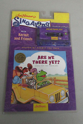 """Vtg Sealed 1993 Jim Henson Sing Along Cassette & Book~Kermit """"Are We There Yet?"""""""