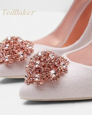 afd361014 TED BAKER Pale Pink Leather Mid Heel Court Shoes Size Uk 4 Eu 37 ...