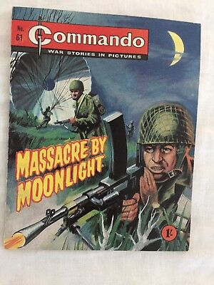 "Very rare Commando No 61 ""Massacre by Moonlight"" in superb condition"