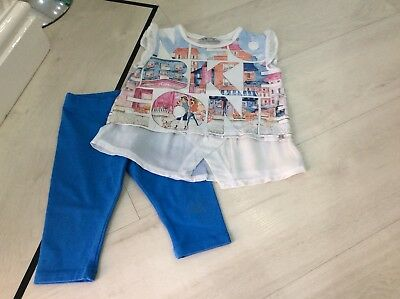 Girls Designer Mayoral Outfit Top And Leggings Age 2 Years Good Condition