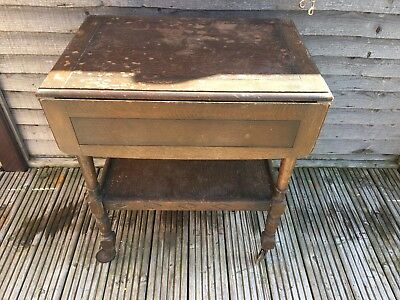 antique furniture Small Table With Folding Leaves