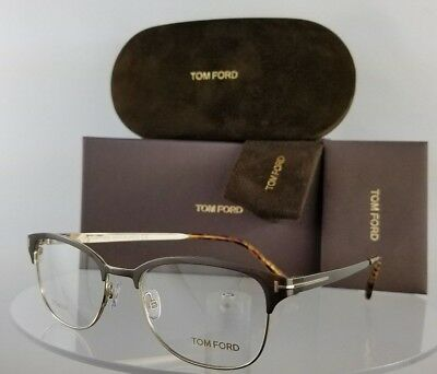 Brand New Authentic Tom Ford Eyeglasses FT TF 5381 050 52mm Brown Gold Frame