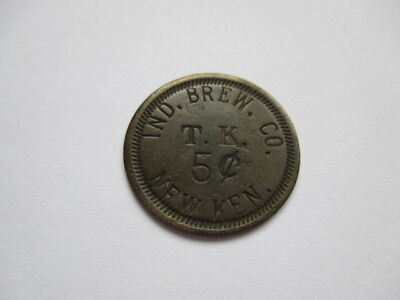 T.k. Ind. Brew Co. 5 Cents Token - New Kensington, Pa