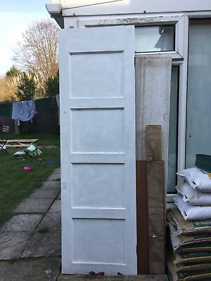 Narrow Wooden 1950's Door