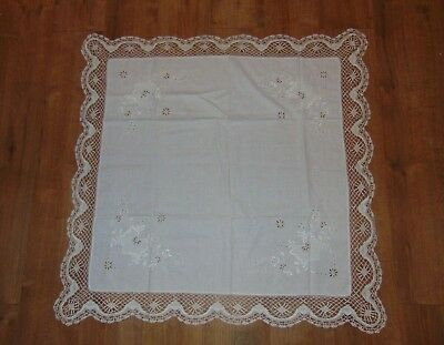 VINTAGE 97X97CM TABLECLOTH (No10)