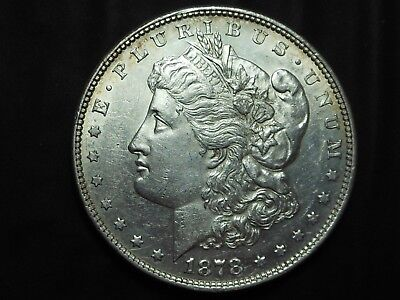 1878 P Silver Morgan Dollar 8tf 8 Tail Feathers
