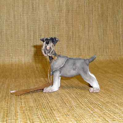 Mini Schnauzer Dog Figurine AB70329 Hand Crafted --Country Artist A Breed Apart