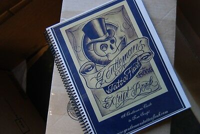 Gentlemans Tattoo Flash Script Book by BOOG Fine Script Ink Rare
