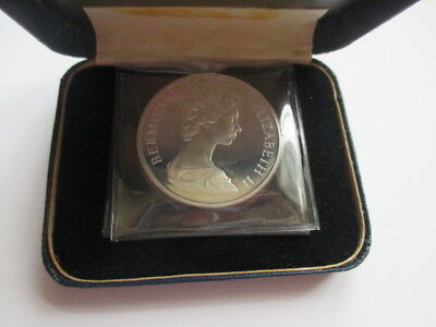 1972 Bermuda Proof Silver Wedding Anniversary $1.00 Coin