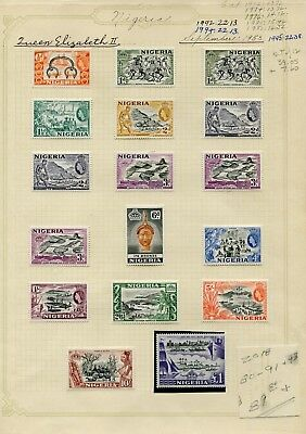 Weeda Nigeria 80-91,93 VF MH 1953 QEII Commemorative CV $89.80