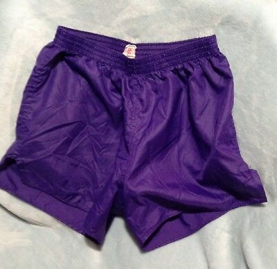 Soffe Shorts 100% Nylon Running Shorts Silky Purple Adult Size L