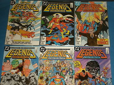 DC Comics: LEGENDS 6-Part Mini-Series #1-6 (1st Amanda Waller,1st Suicide Squad)
