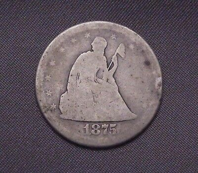 ✰ 1875 - S Seated Liberty | Silver Twenty Cent | Rare | US Coin ✰