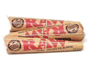 3x Packs RAW Classic 1.25 Cones ( 18 Cones Total )  Pure Natural Unrefined