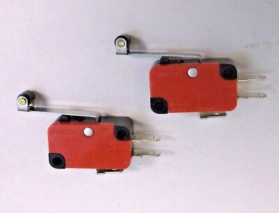 2 Pressure Control Switches 15 amp @ 125 250 VAC with Nylon Roller