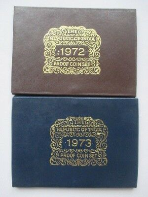 Lot Of 2 India Proof Sets - 1972 And 1973