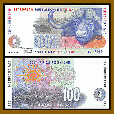 South Africa 100 Rand, ND 1999 P.126b Signature #8 Uncirculated