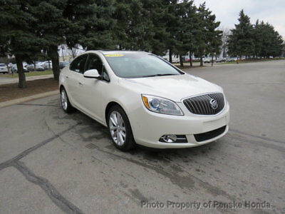 Buick Verano 4dr Sedan Leather Group 4dr Sedan Leather Group Low Miles Automatic Gasoline 2.4L 4 Cyl WHITE