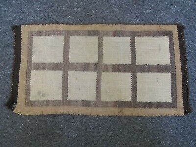 """Antique NAVAJO NATIVE AMERICAN INDIAN WOOL RUG BLANKET RARE DESIGN! 32"""" BY 17"""""""