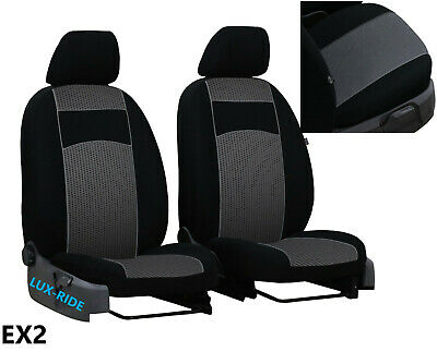 """TOYOTA HILUX 2005-2016 UPHOLSTERY FABRIC """"Tuning"""" FRONT UNIVERSAL SEAT COVERS"""
