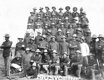 1899-African American Soldiers-Co. 1-9th United States Volunteer Infantry-Cuba