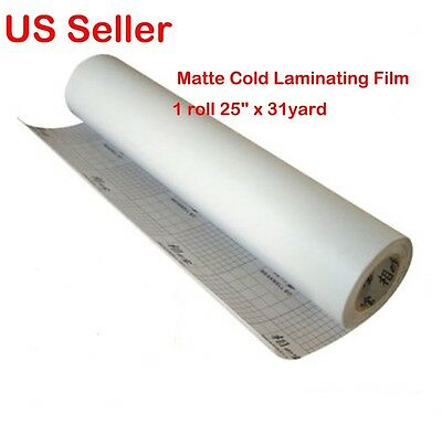 "1 roll Matte 25""x 31yard Vinyl Cold Laminating Film Laminator"